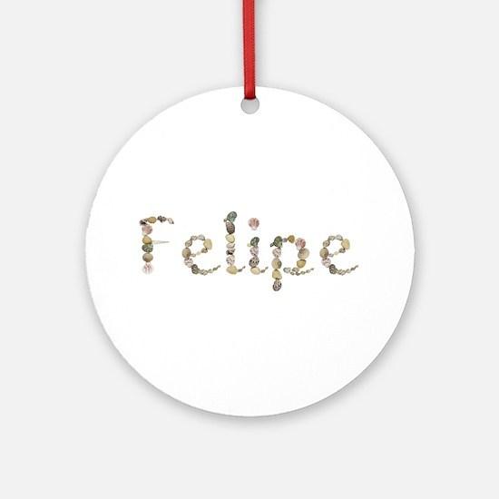 Felipe Seashells Round Ornament