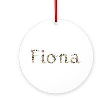 Fiona Seashells Round Ornament