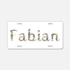 Fabian Seashells Aluminum License Plate