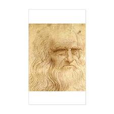 Leonardo Da Vinci Rectangle Decal