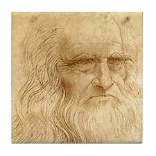 Leonardo Da Vinci Tile Coaster