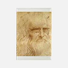 Leonardo Da Vinci Rectangle Magnet