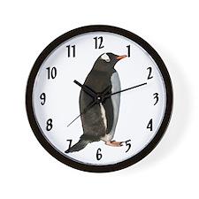 Gentoo Penguin Wall Clock