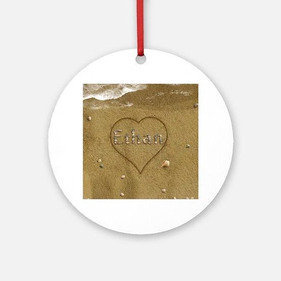 Ethan Beach Love Ornament (Round)