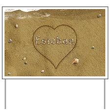 Esteban Beach Love Yard Sign