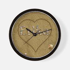 Erika Beach Love Wall Clock