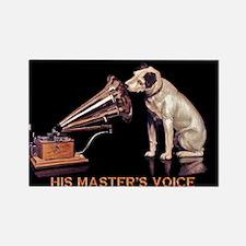 VINTAGE DOG ART: RCA DOG Rectangle Magnet (10 pack