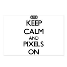 Keep Calm and Pixels ON Postcards (Package of 8)