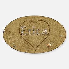 Erica Beach Love Sticker (Oval)