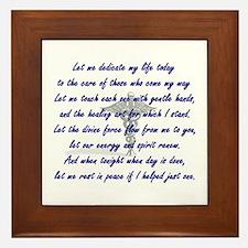 Physical Therapist Prayer Framed Tile