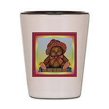 PLAID TEDDY BEAR Shot Glass