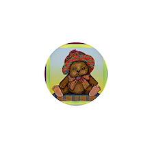 PLAID TEDDY BEAR Mini Button