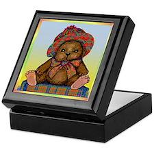 PLAID TEDDY BEAR Keepsake Box