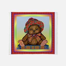 PLAID TEDDY BEAR Throw Blanket