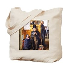 Vintage painting - Waiting for Legal Advi Tote Bag
