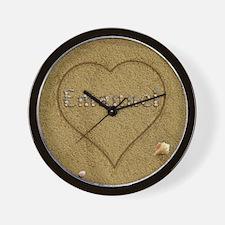 Emanuel Beach Love Wall Clock