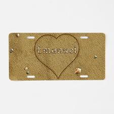 Emanuel Beach Love Aluminum License Plate