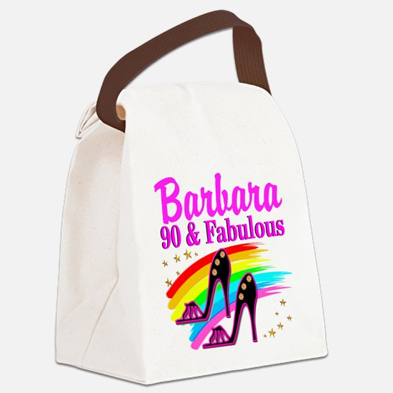 90 AND FABULOUS Canvas Lunch Bag