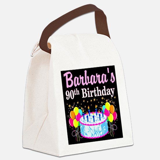 90TH CELEBRATION Canvas Lunch Bag