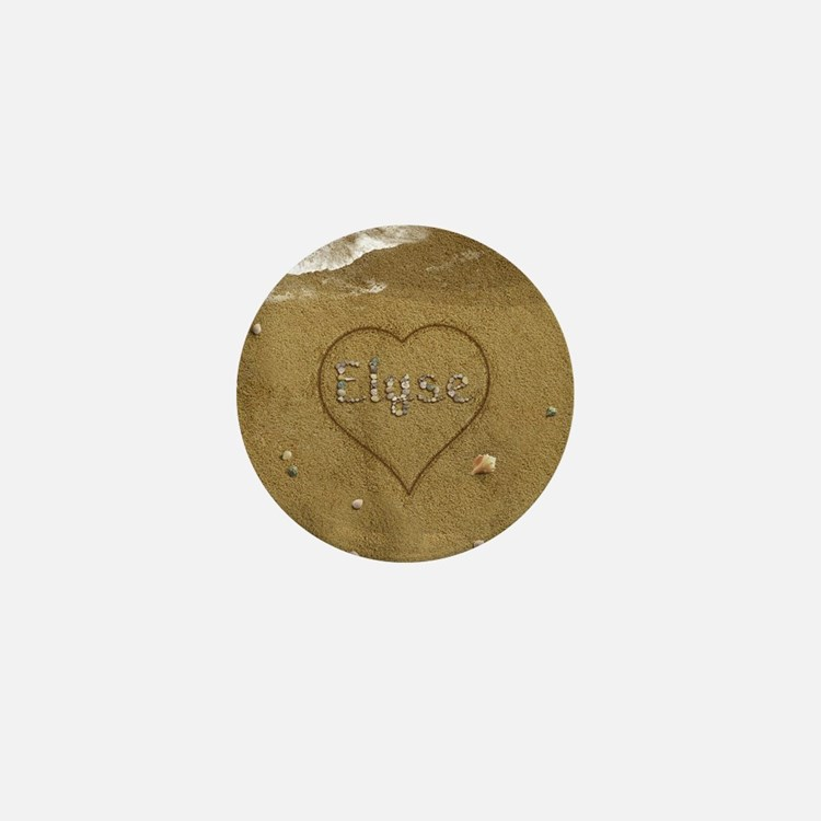 Elyse Beach Love Mini Button