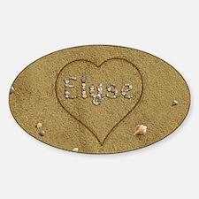 Elyse Beach Love Sticker (Oval)