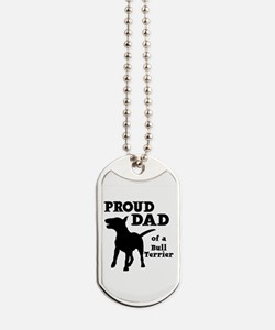 BULL TERRIER DAD Dog Tags