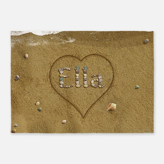 Ella Beach Love 5'x7'Area Rug