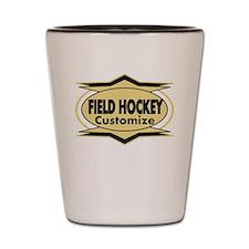 Field Hockey Star sylized Shot Glass