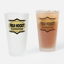 Field Hockey Star sylized Drinking Glass