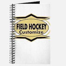 Field Hockey Star sylized Journal
