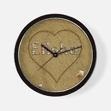 Elisha Beach Love Wall Clock