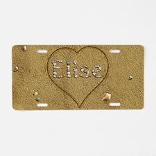 Elise Beach Love Aluminum License Plate