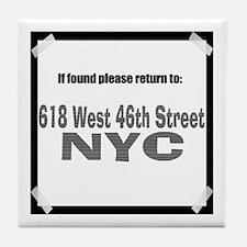If found please return to 618 Tile Coaster