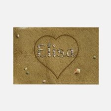 Elisa Beach Love Rectangle Magnet