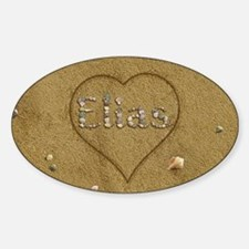 Elias Beach Love Sticker (Oval)