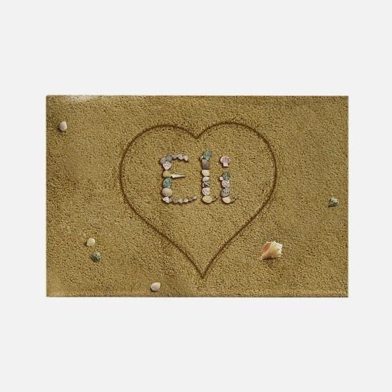 Eli Beach Love Rectangle Magnet