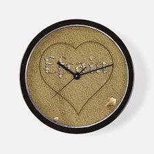 Efrain Beach Love Wall Clock