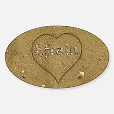 Efrain Beach Love Sticker (Oval)