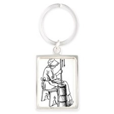 Cute Amish Portrait Keychain