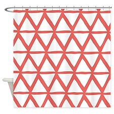 Cute Peach stripes Shower Curtain