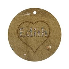 Edith Beach Love Ornament (Round)