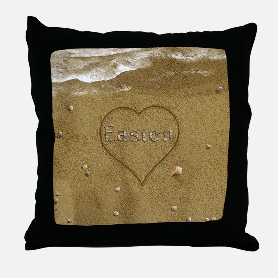 Easton Beach Love Throw Pillow