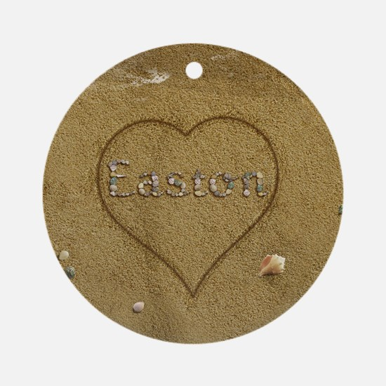 Easton Beach Love Ornament (Round)