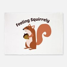 Feeling Squirrely 5'x7'Area Rug