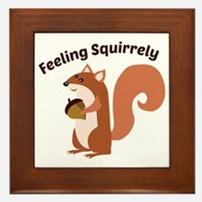 Feeling Squirrely Framed Tile