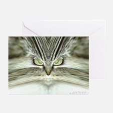 'Alien Tabby-Cat' Greeting Cards (10 Pk)