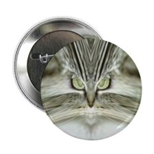 'Alien Tabby-Cat' Button/Pin/Badge (10 pack)