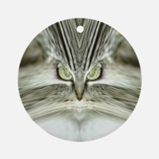 'Alien Tabby-Cat' Round Ornament
