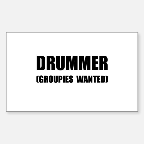 Drummer Groupies Decal