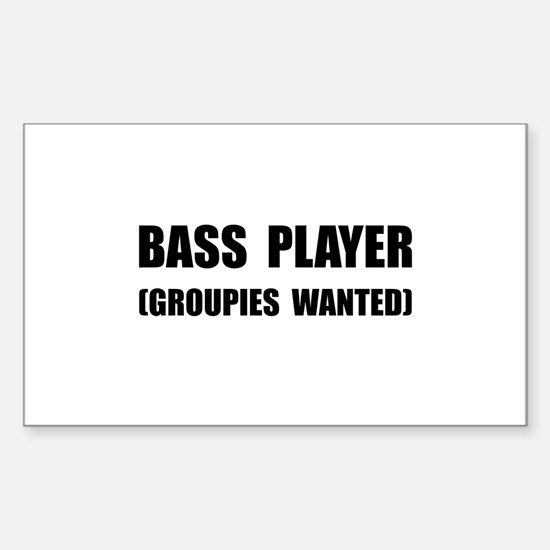 Bass Player Groupies Decal
